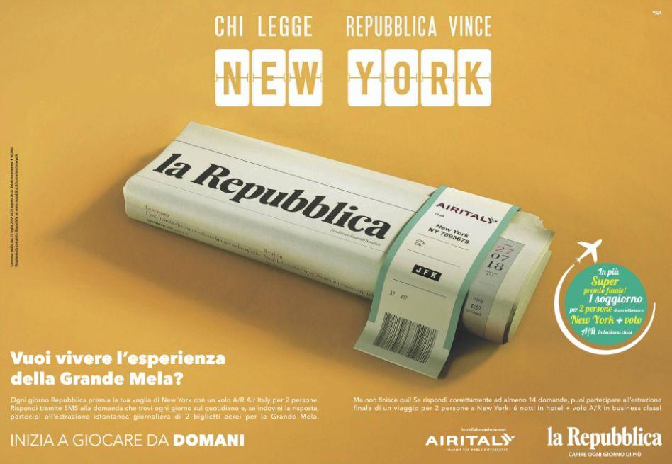 With Repubblica you win New York – Carmi e Ubertis